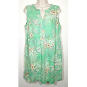 J. JILL Love Linen Floral Shift Dress 2194E1
